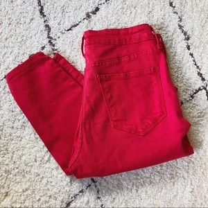 Old Navy Red Rockstar Jeans, Size 8 skinny jeans